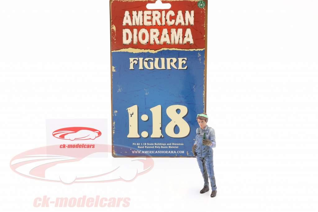 figure #4 Femme Mécanicien 1:18 American Diorama