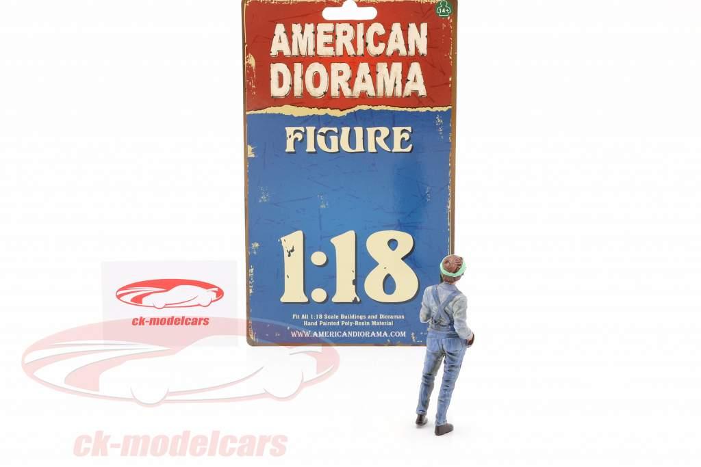 Figur #4 Mechanikerin 1:18 American Diorama