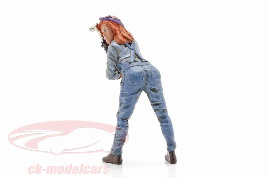 figuur #1 Vrouw Machanic 1:18 American Diorama