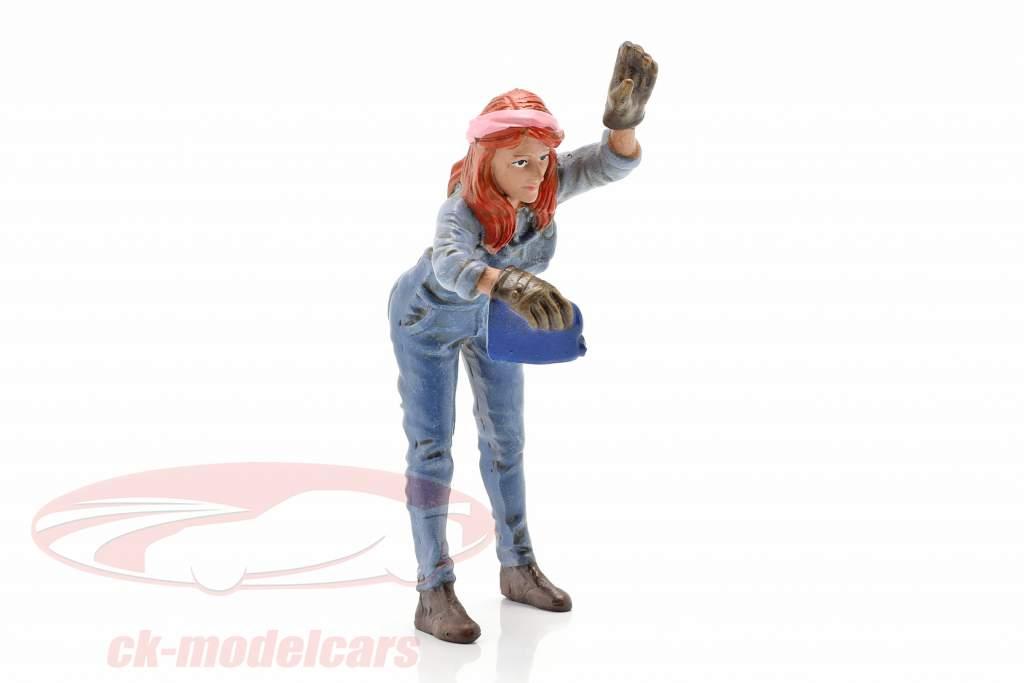 figure #2 Femme Mécanicien 1:18 American Diorama