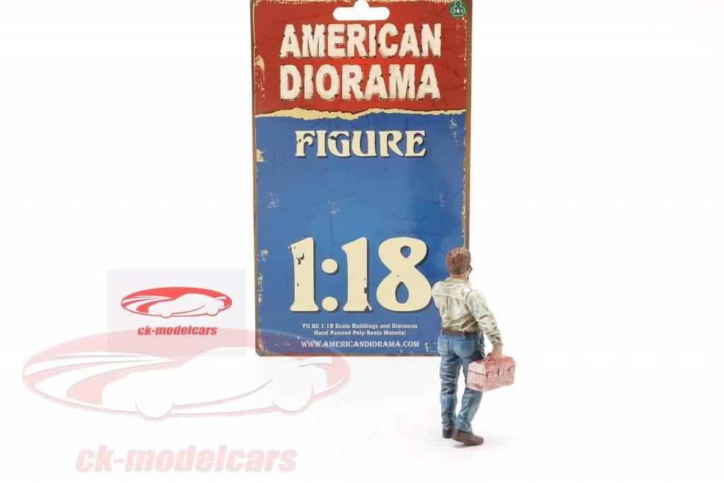 Fumatore incallito Larry figura 1:18 American Diorama