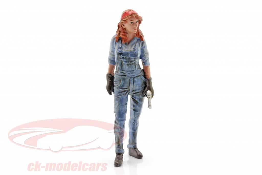 Figur #3 Mechanikerin 1:18 American Diorama