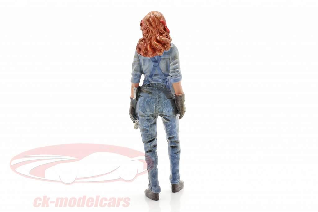 figure #3 Female Mechanic 1:18 American Diorama