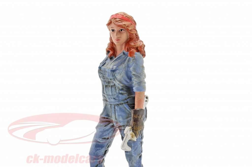 figure #3 Femme Mécanicien 1:18 American Diorama