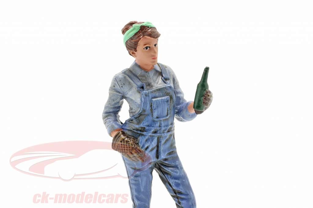 figure #4 Female Mechanic 1:18 American Diorama