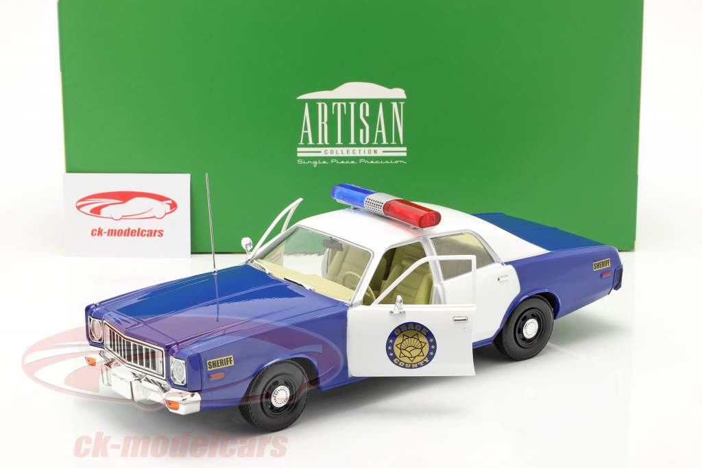 Plymouth Fury Osage County Sheriff 1975 weiß / blau 1:18 Greenlight