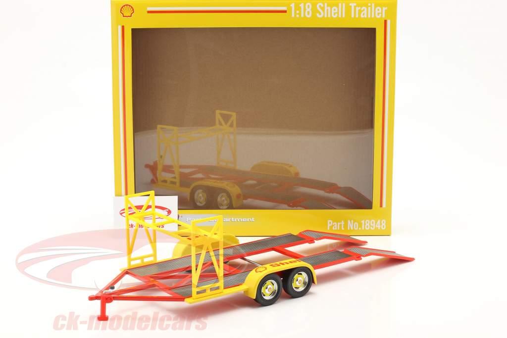 Autoanhänger Shell gelb / rot / silber 1:18 GMP