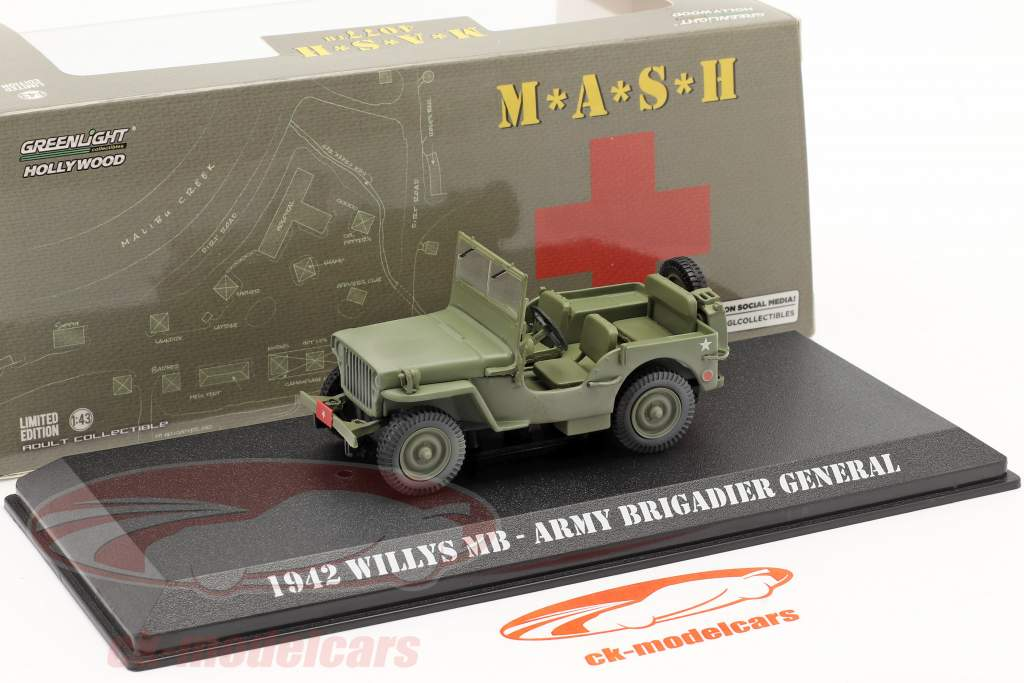 Ford GPW Jeep Willys MB 1942 TV-Serie M*A*S*H (1972-83) oliv 1:43 Greenlight