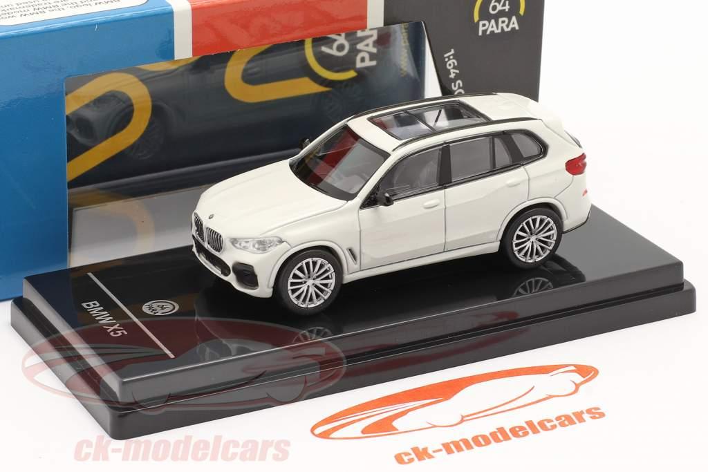 BMW X5 G05 Bouwjaar 2018 mineraal wit 1:64 Paragon Models