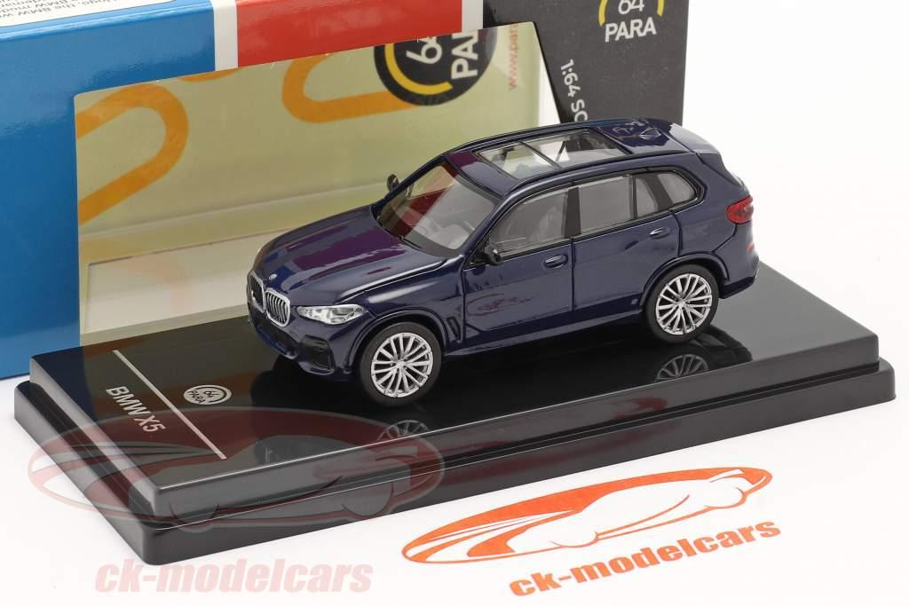 BMW X5 G05 Byggeår 2018 Tanzanit blå 1:64 Paragon Models