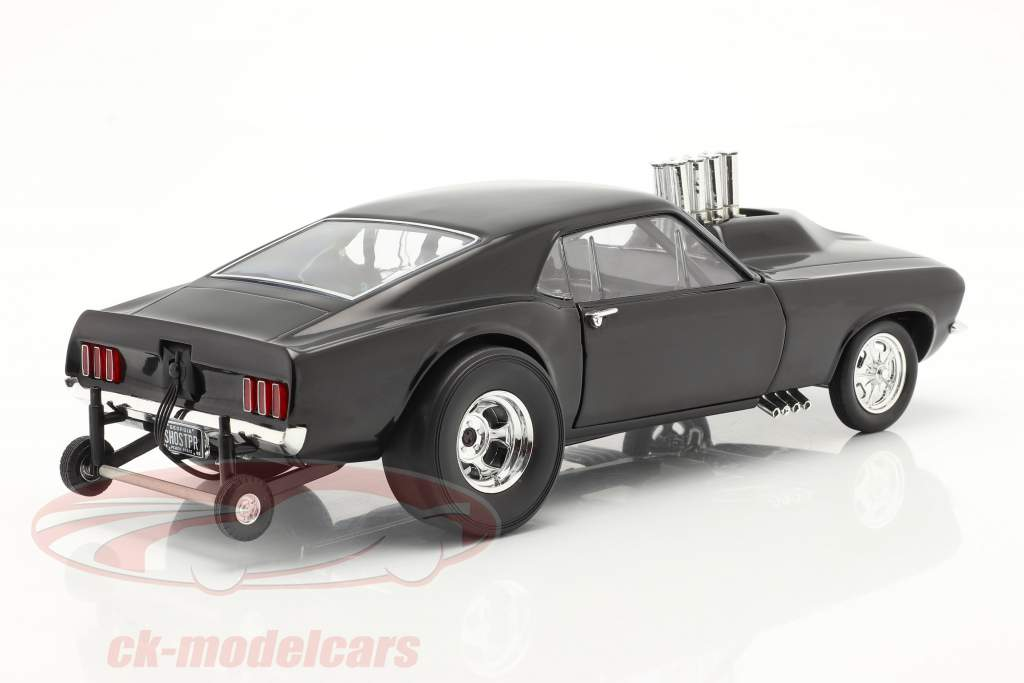 Ford Mustang Boss Gasser Show Stopper 1969 negro 1:18 GMP
