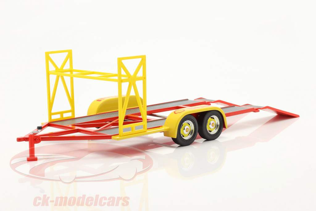 tandem Car Trailer Shell yellow / red / silver 1:18 GMP