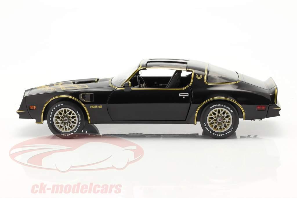 Pontiac Firebird Trans Am Año de construcción 1977 negro / oro 1:18 Greenlight