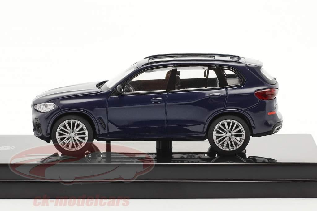 BMW X5 G05 Año de construcción 2018 Tanzanita azul 1:64 Paragon Models