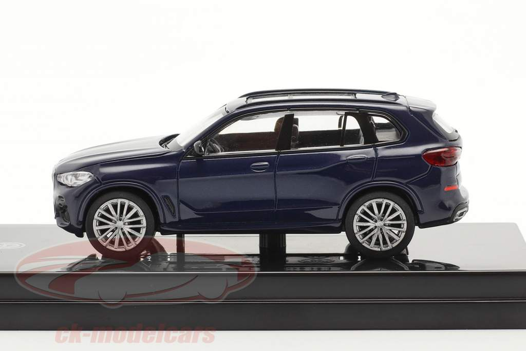 BMW X5 G05 Bouwjaar 2018 Tanzaniet blauw 1:64 Paragon Models