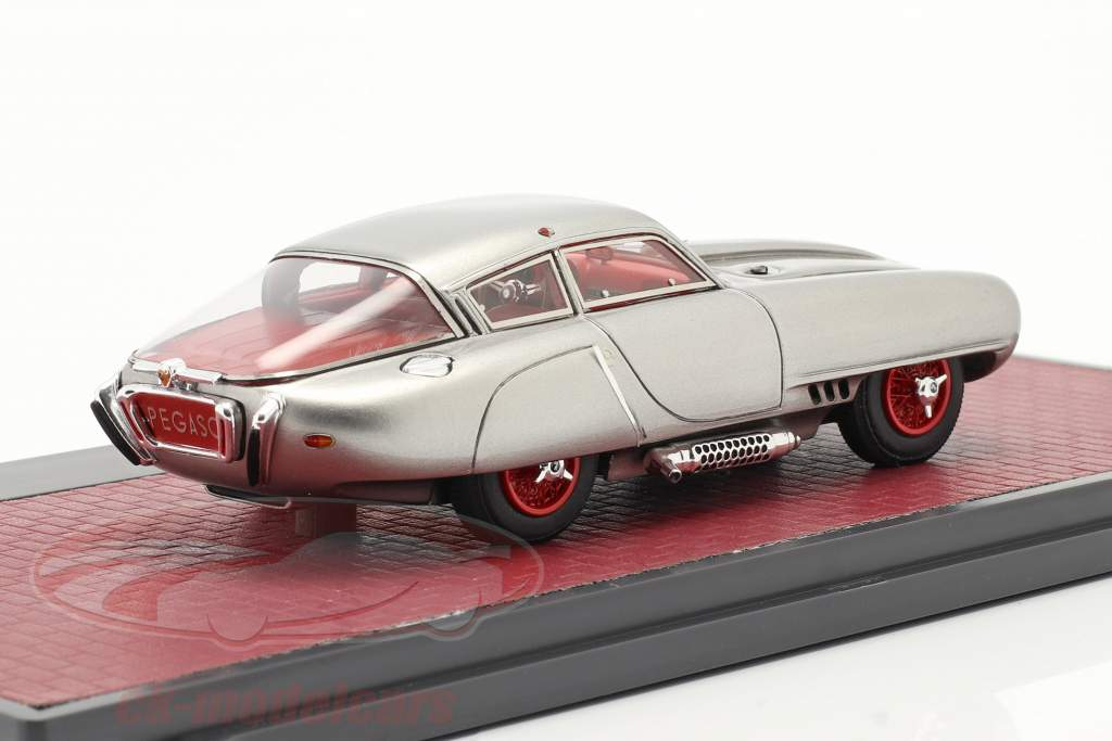Pegaso Z-102 Cupula Coupe year 1953 silver 1:43 Matrix