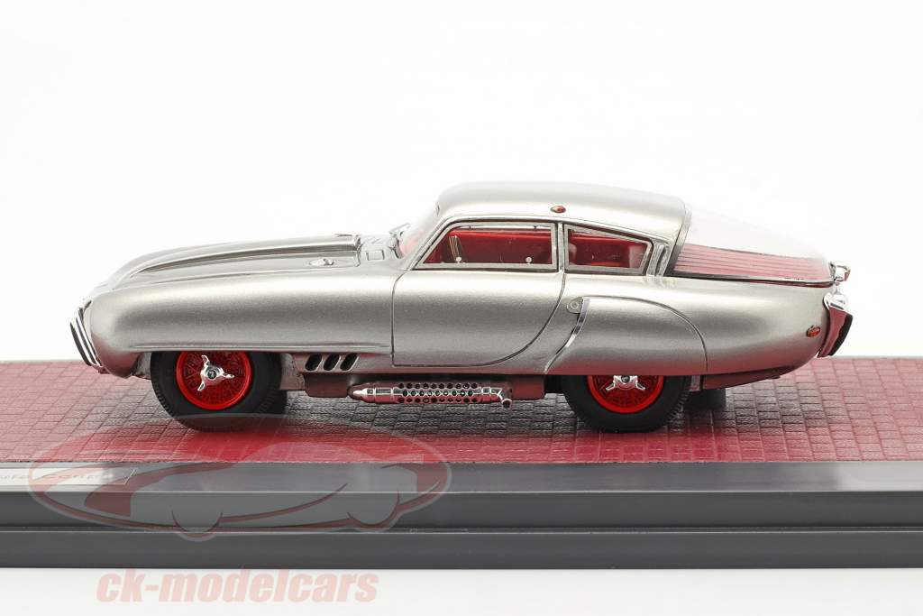 Pegaso Z-102 Cupula Coupe Byggeår 1953 sølv 1:43 Matrix