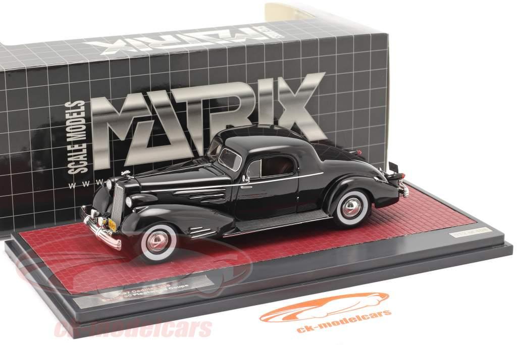 Cadillac V16 Series 90 Fleetwood Coupe Année de construction 1937 noir 1:43 Matrix