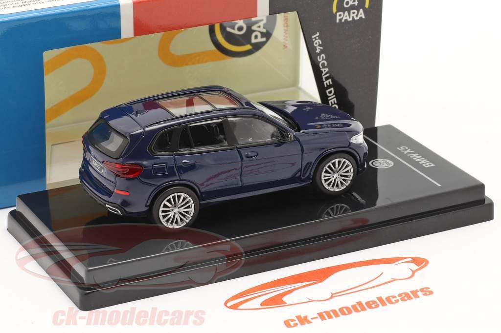 BMW X5 G05 Anno di costruzione 2018 Tanzanite blu 1:64 Paragon Models