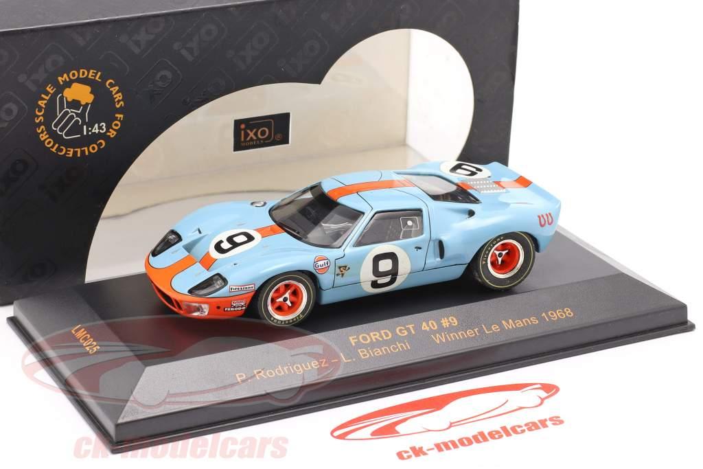 Ford GT 40 #9 Ganador Le Mans 1968 Rodriguez, Bianchi 1:43 Ixo / 2do elección