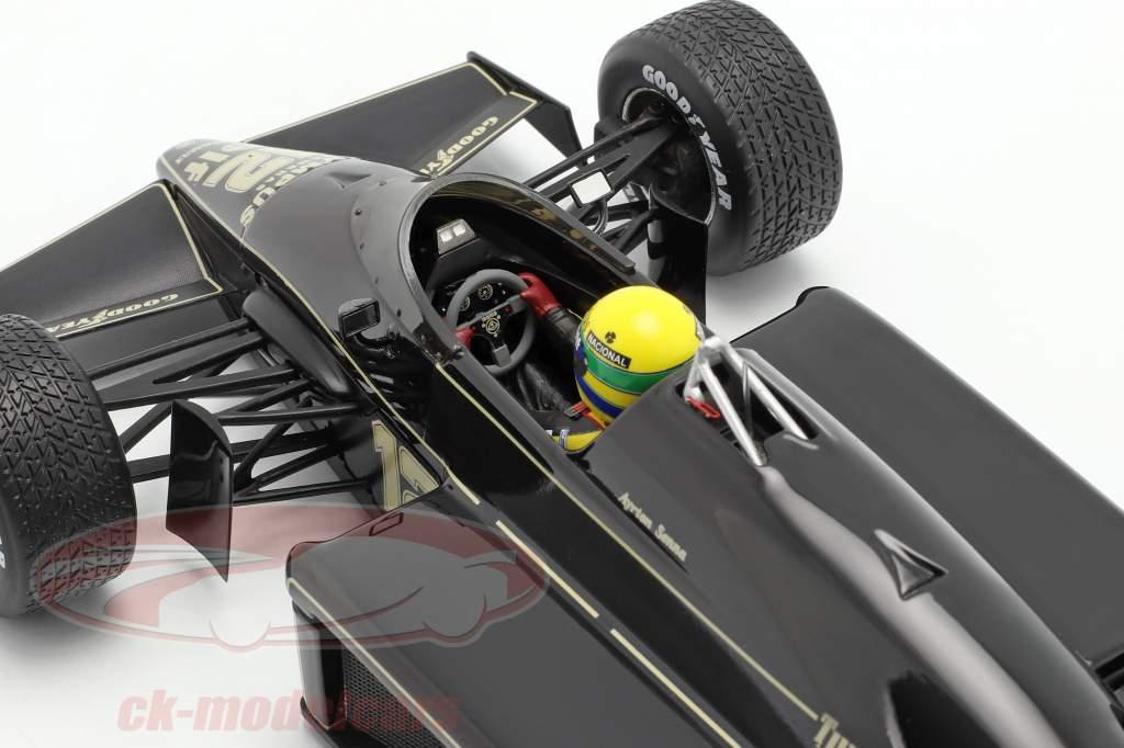 Ayrton Senna Lotus 97T #12 vincitore portoghese GP formula 1 1985 1:18 Premium X