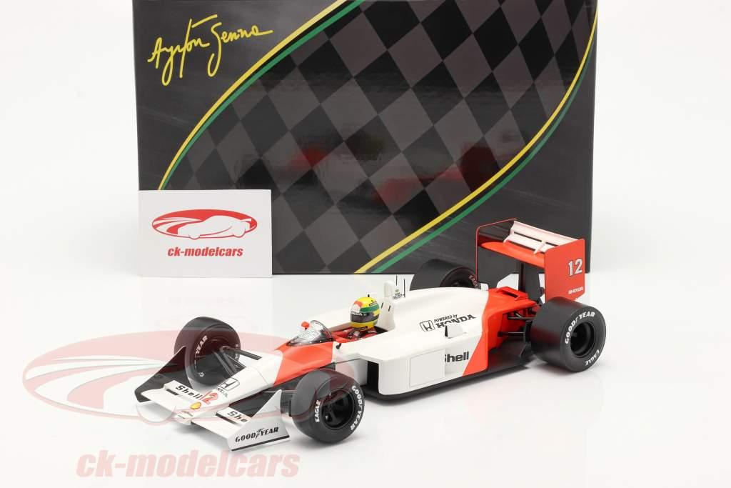 Ayrton Senna McLaren MP4/4 #12 Giappone GP formula 1 Campione del mondo 1988 1:18 Premium X