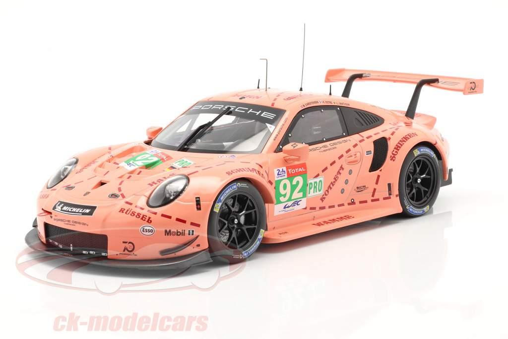 Porsche 911 (991) RSR #92 Classe Vincitore LMGTE 24h LeMans 2018 Pink Pig 1:18 Ixo