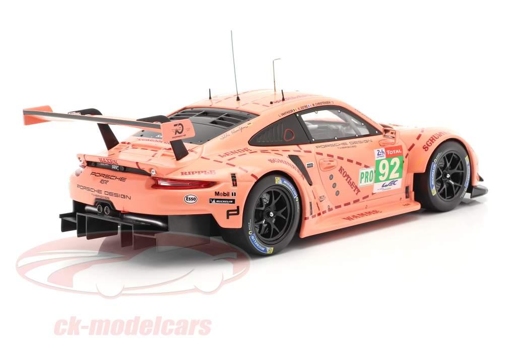 Porsche 911 (991) RSR #92 Class Winner LMGTE 24h LeMans 2018 Pink Pig 1:18 Ixo