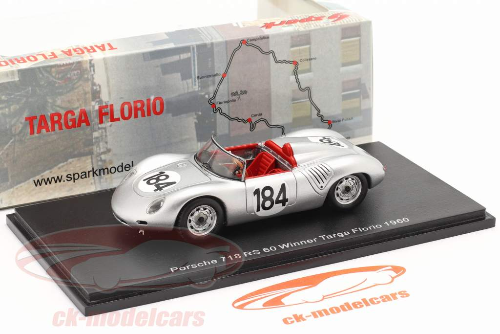 Porsche 718 RS 60 #184 winner Targa Florio 1960 Bonnier, Herrmann 1:43 Spark