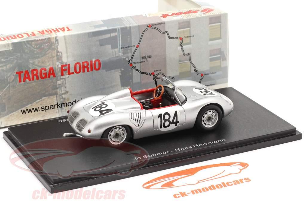 Porsche 718 RS 60 #184 ganador Targa Florio 1960 Bonnier, Herrmann 1:43 Spark