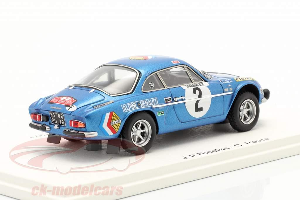 Alpine A110 #2 Rallye Monte Carlo 1971 Nicolas, Roure 1:43 Spark