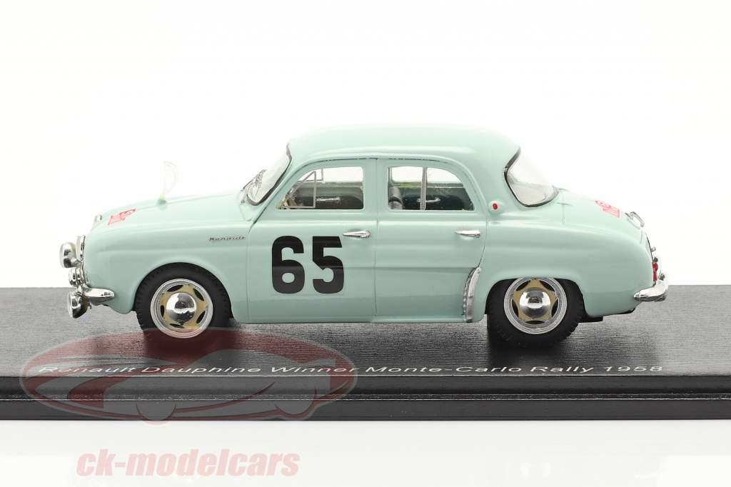 Renault Dauphine #65 gagnant Rallye Monte Carlo 1958 Feret, Monraisse 1:43 Spark