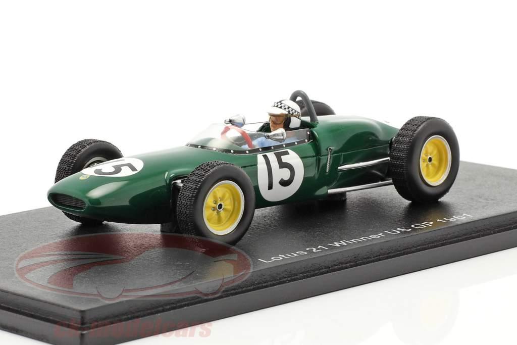Innes Ireland Lotus 21 #15 winnaar VS GP formule 1 1961 1:43 Spark