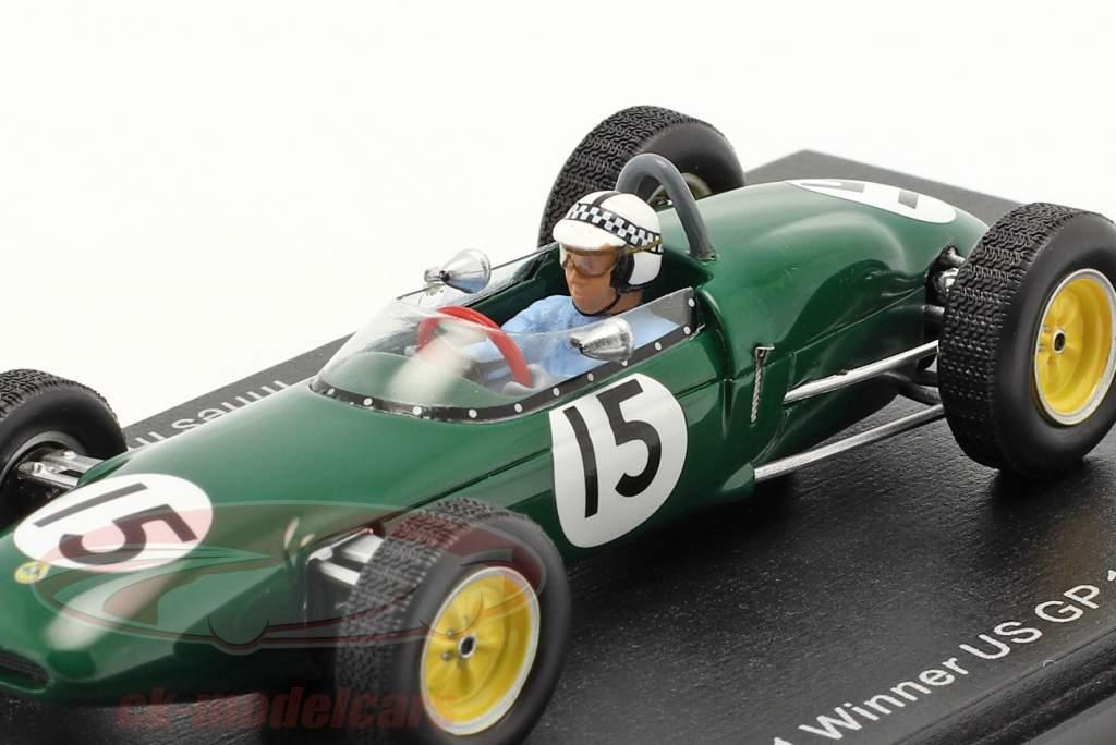 Innes Ireland Lotus 21 #15 ganador Estados Unidos GP fórmula 1 1961 1:43 Spark
