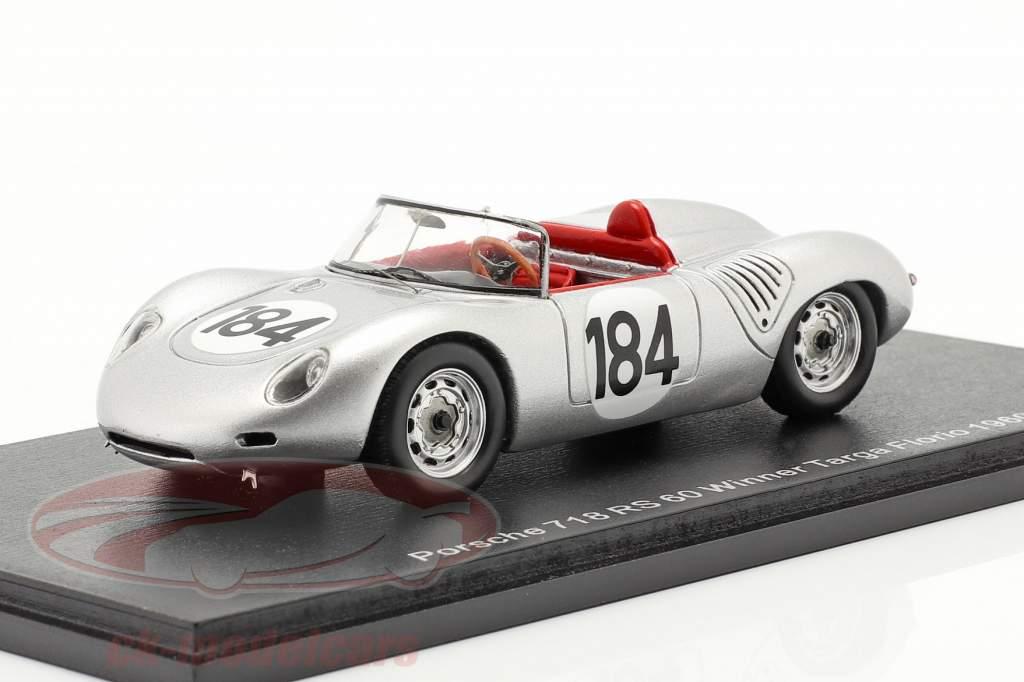 Porsche 718 RS 60 #184 vencedora Targa Florio 1960 Bonnier, Herrmann 1:43 Spark