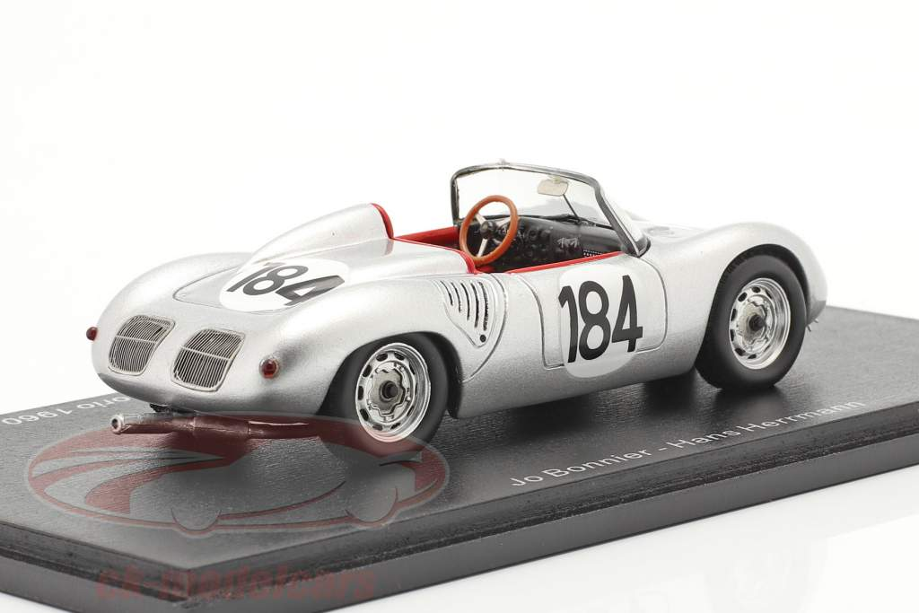 Porsche 718 RS 60 #184 vinder Targa Florio 1960 Bonnier, Herrmann 1:43 Spark
