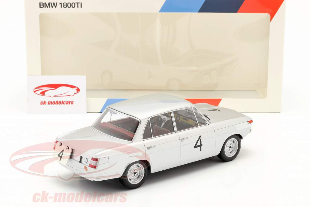 BMW 1800 TI #4 vincitore 24h Spa 1965 Ickx, van Ophem 1:18 Minichamps