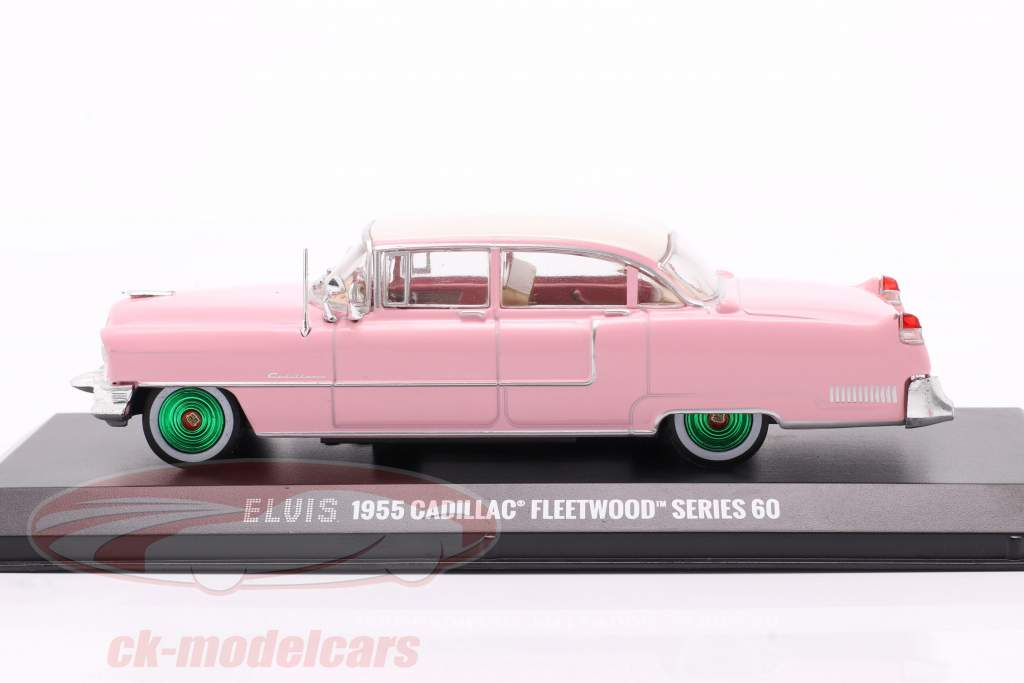 Cadillac Fleetwood Series 60 Elvis Presley 1955 rosado / Blanco / verde 1:43 Greenlight