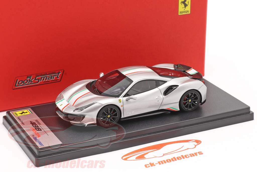 Ferrari 488 Pista Piloti #51 Baujahr 2018 silber 1:43 LookSmart