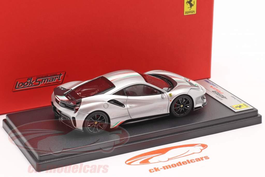 Ferrari 488 Pista Piloti #51 Año de construcción 2018 plata 1:43 LookSmart