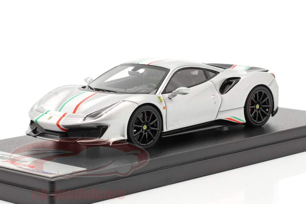 Ferrari 488 Pista Piloti #51 Byggeår 2018 sølv 1:43 LookSmart