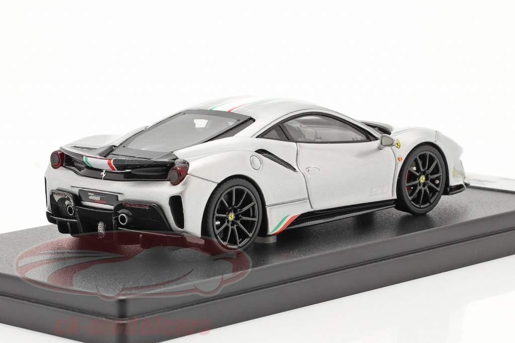 Ferrari 488 Pista Piloti #51 year 2018 silver 1:43 LookSmart