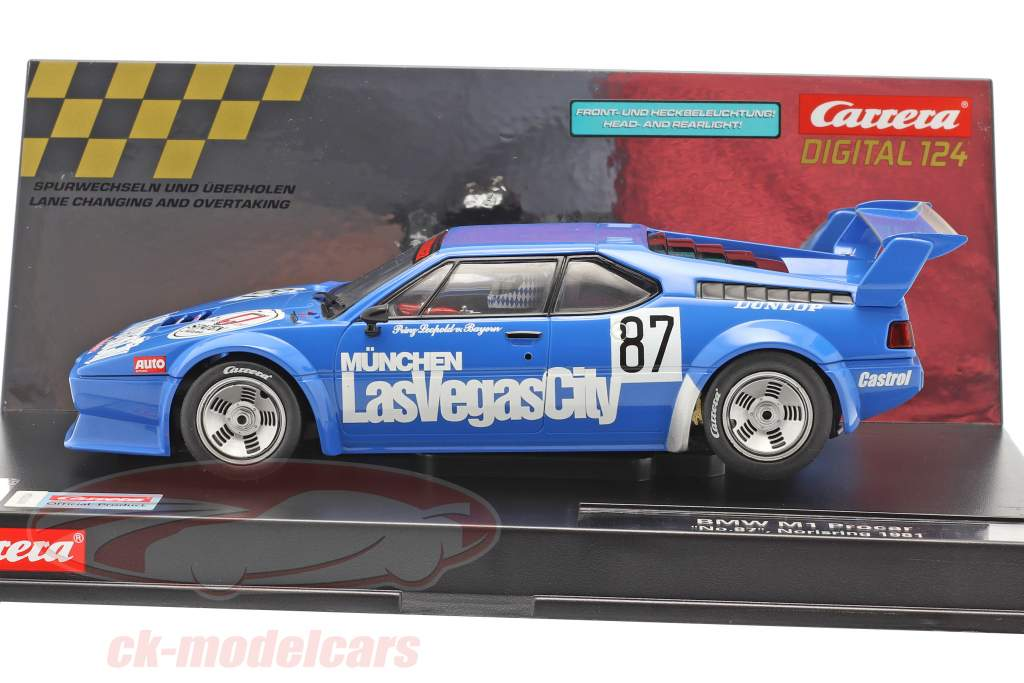 Digital 124 SlotCar BMW M1 Procar #87 Norisring 1981 1:24 Carrera
