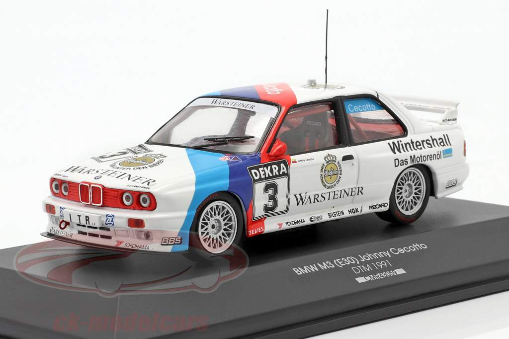 BMW M3 (E30) Sport Evolution #3 DTM 1991 Johnny Cecotto 1:43 CMR