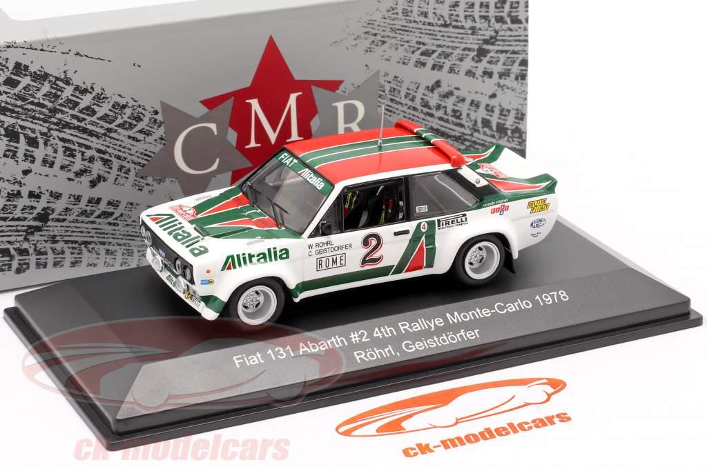 Fiat 131 Abarth #2 Cuarto Rallye Monte Carlo 1978 Röhrl, Geistdörfer 1:43 CMR