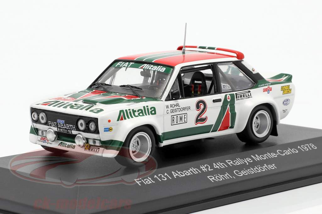 Fiat 131 Abarth #2 4th Rallye Monte Carlo 1978 Röhrl, Geistdörfer 1:43 CMR