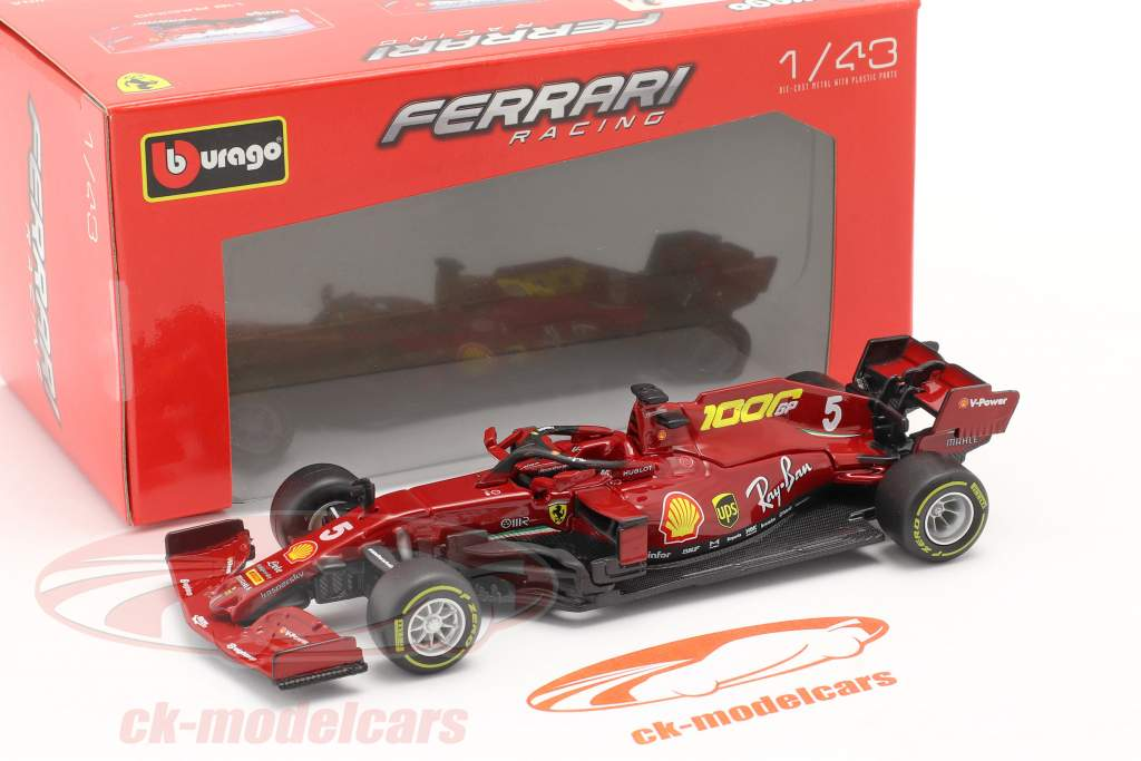 S. Vettel Ferrari SF1000 #5 1000 GP Ferrari Toscana GP F1 2020 1:43 Bburago