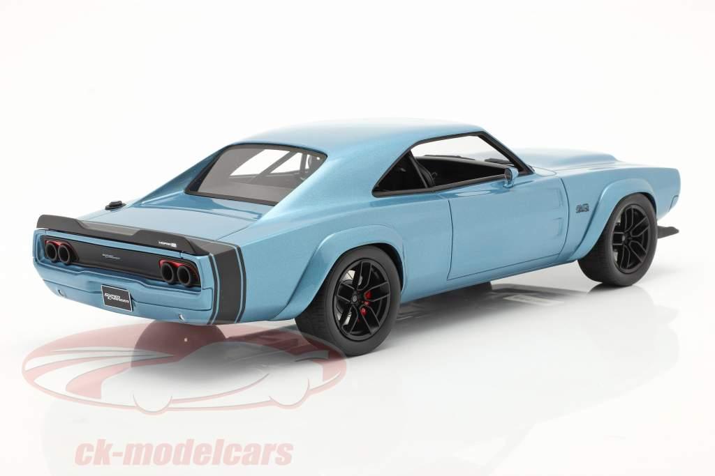 Dodge Super Charger Concept Car Año de construcción 2018 azul 1:18 GT-SPIRIT
