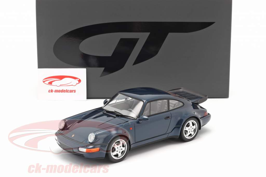 Porsche 911 (964) Turbo 3.3 Bouwjaar 1991 amazone groen 1:18 GT-SPIRIT