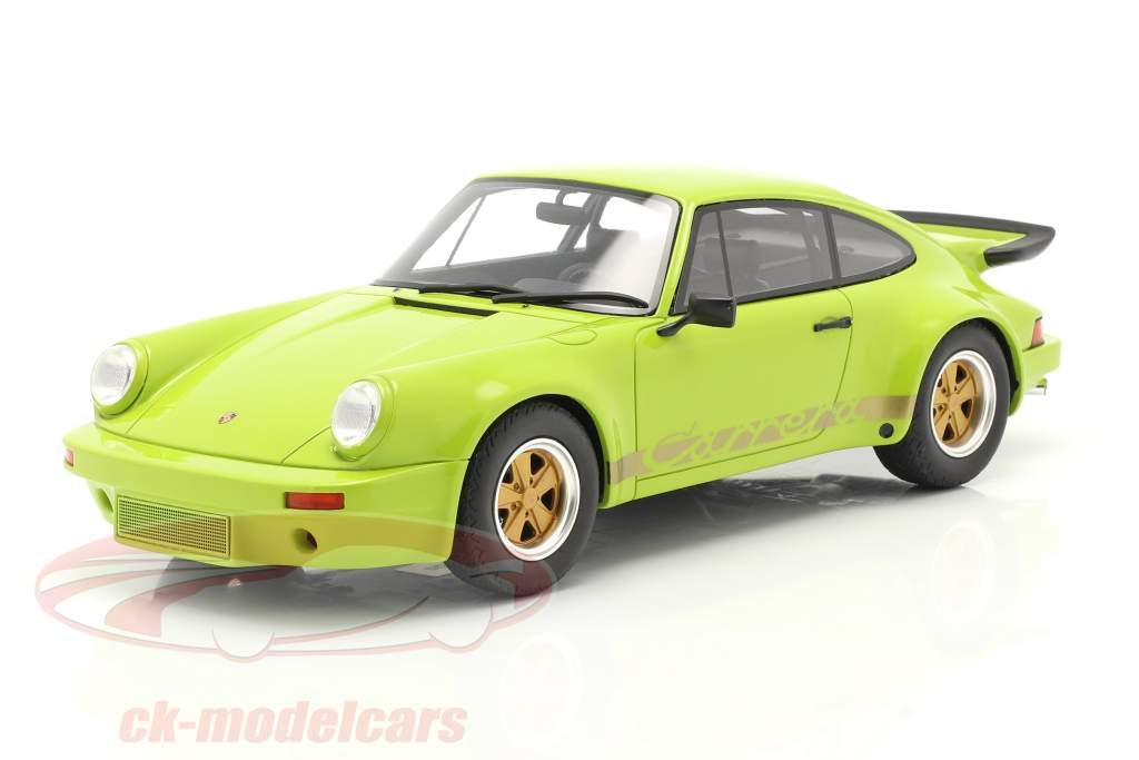 Porsche 911 Carrera RS 3.0 Coupe Année de construction 1974 vert clair 1:18 GT-SPIRIT
